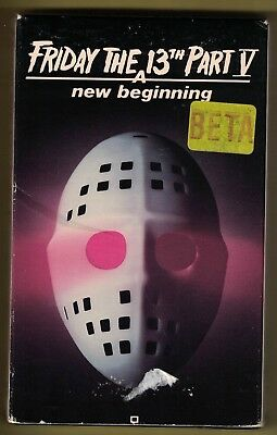 Vintage FRIDAY THE 13TH PART V  A NEW BEGINNING BETA TAPE