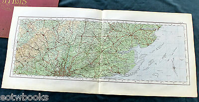 Northern Home Counties - Essex & Hertfordshire - 1922, Vintage OS cloth map.