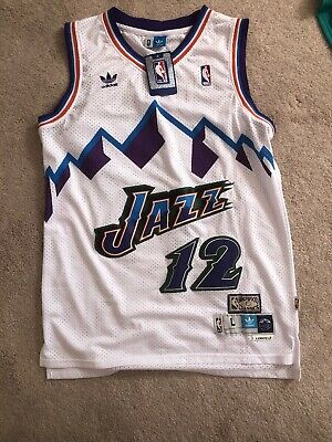 73649b029ad NWT John Stockton  12 NBA Utah Jazz Swingman Throwback Immitation Jersey
