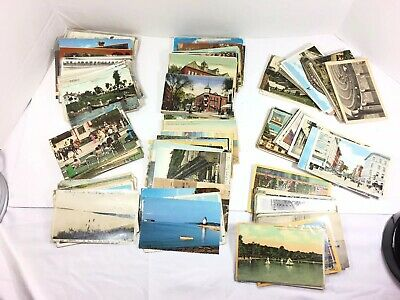 Large Lot of Antique & Vintage Postcards People Places Holiday Wood Foreign