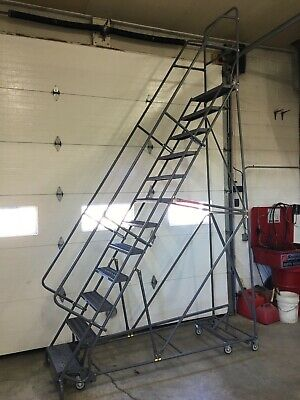 TRI ARC 12 Step All Direction Locking Rolling Safety Ladder KDED112242