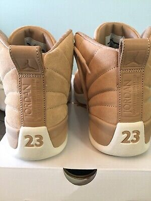 2e29f2705fb Womens Nike Air Jordan 12 Retro Shoes 9.5 Vachetta Tan Metallic Gold Worn  once