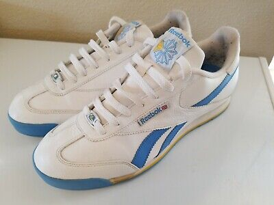 9dd65ca2e74e0 Reebok Special Edition Classic White   Blue Leather Sneakers Shoes Men s ...