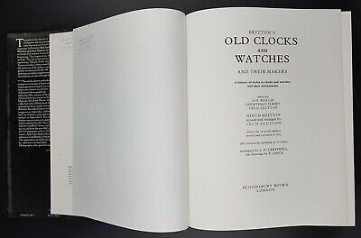 Britten's Old Clocks & Watches And Their Makers, 9th Edition Large Hardback & DJ