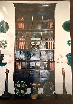 Antique Hanging French Plate Rack Circa 1860