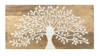 90cm Tree of Life Solid Mango Wood Wall Art Hanging Timber Plaque indoor