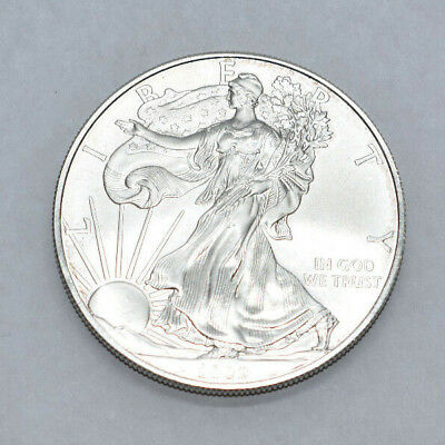 2009 American Eagle Silver Dollar (Uncirculated) 128195 MUST SEE PURPLE TONING