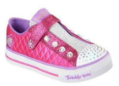 4444185b608f Skechers Twinkle Toes Sparkly Jewels Kids Pink Light Up Shoes Girls Youth  10689