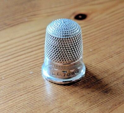 Sterling Silver Thimble 1898 - James Fenton
