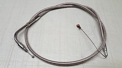 Drag Specialties Stainless Braided Idle Cable Harley-Davidson XLH DS-224041 NEW