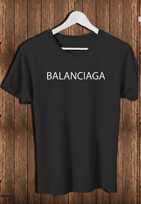 2Balenciaga Logo T Shirt Size S-4XL LIMITED EDITION Black and White Color