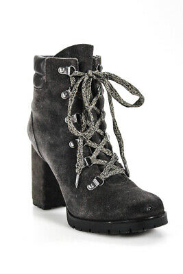 5c59bcfdf884 SAM EDELMAN LOUIE Gray Fringe Ankle Boot Fringe Booties Women size ...