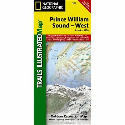 National Geographic Prince William Sound - WEST - Trails Illus Topo Map - # 761