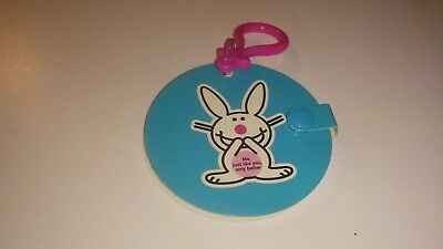 2 Happy Bunny Notepads 50 sheets each NEW with clips