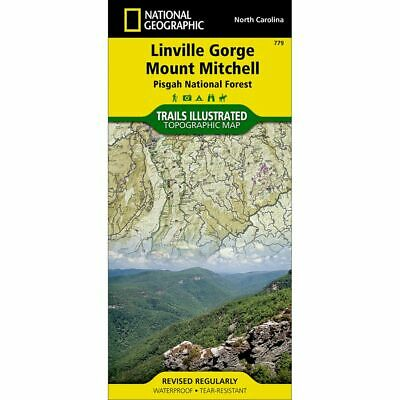 National Geographic Linville Gorge Mount Mitchell Trails Illus Topo Map #779- NC
