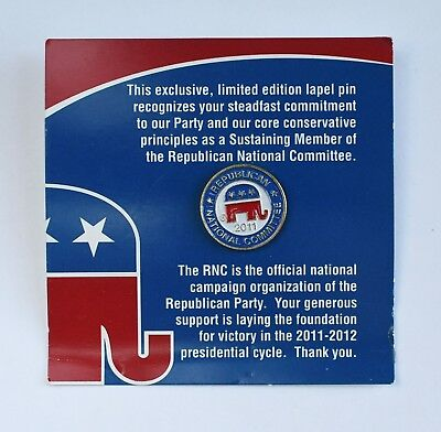 2011 Republican National Committee RNC Limited Edition Elephant Lapel Pin-back