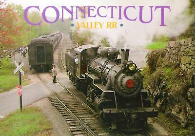 POSTCARD VALLEY RAILROAD Engine #40 Pulls a Christmas Train