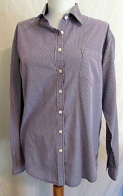 87aac194 American Eagle Outfitters PURPLE check Boyfriend shirt Women's Small * Nice