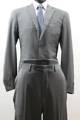 2ea5c10f2 Canali for Rothmans 2 Btn. Gray Flat Front Narrow Leg Men's Wool Suit 40L/