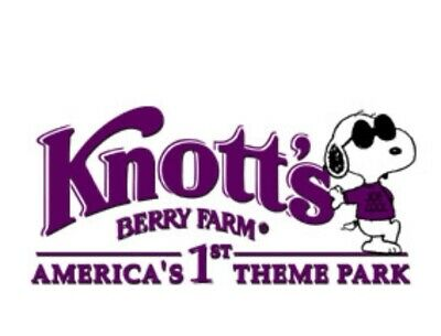 Knotts Berry Farm Two E-Tickets -2 tickets for $70 ($106 original value)
