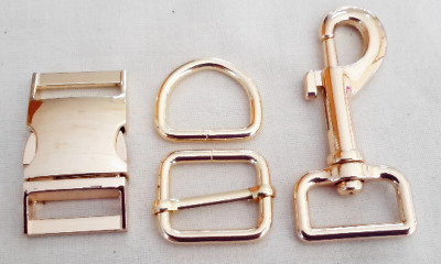 Rose gold buckle sets 25mm with matching snaphook