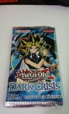 Original Yugioh! Dark Crisis Booster Pack Factory Sealed. English. Unlimited.