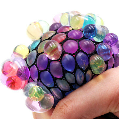 Anti-Stress Face Reliever Mesh Grape Ball Squeeze Autism Mood Toy Relief Toy