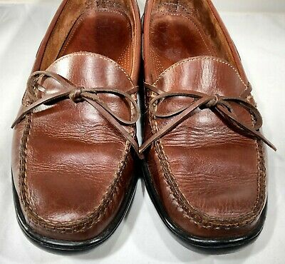 e15531a0e52 COLE HAAN MENS Tie Loafer Driver Shoe Sz 12 M Brown Slip-on Apron ...