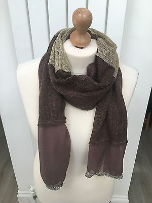 Womans beautiful brown scarf