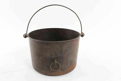 Antique Griswold Cast Iron Round Kettle Pot With Wire Bail Handle