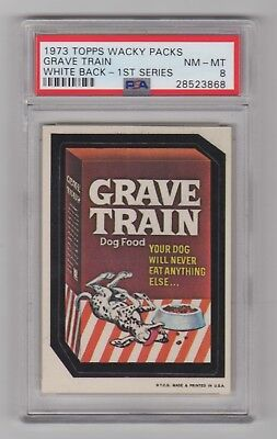 1973 Topps Wacky Packages 1st Series * Grave Train * PSA 8 Tough Centered !