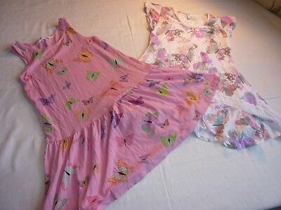 Bundle Of 2 Butterfly Sun Dresses Age 5-6/6-8Yrs Next/H & M