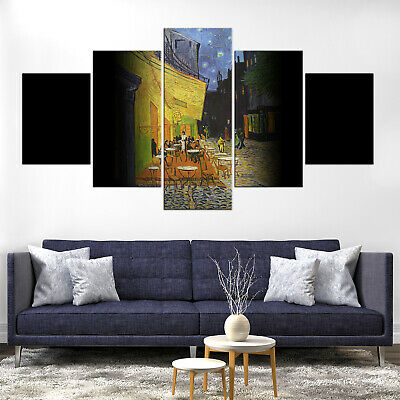 Vincent Van Gogh Cafe Terrace at Night Canvas Print Painting Home Decor Wall Art