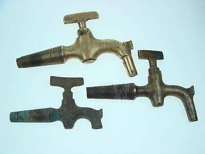 Vintage Antique Very Old LOT OF 3 Russian Faucet Handle Spigot Coak Nr 1881