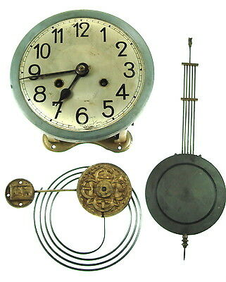 Very Old Wall Clock  Mechanism With Face and Dials Untested Nr 5178
