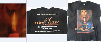 Rare Michael Jackson 30Th Anniversary 2001 - T-Shirt Glow In The Dark - Size M
