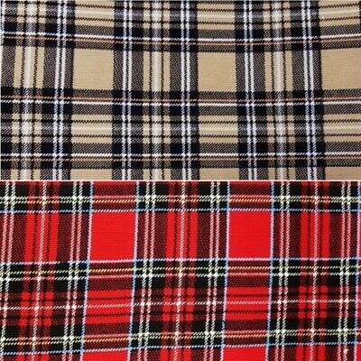 100% Cotton Corduroy Fabric Fashion Tartan Check Plaid Dress Trousers