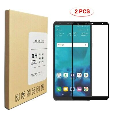 2-Pack 9H Premium Tempered Glass Screen Protector For LG Stylo 4 Black / Clear
