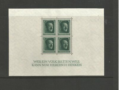 GERMANY 1937 M/MINT CULTURE FUND & HITLERS 48th BIRTHDAY MINI SHEET MS635 AS16