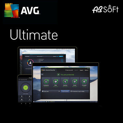 AVG Ultimate 2019 Unlimited Appareils 1 An   2018 FR