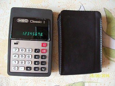 Vintage Calculator MBO Classic I   Made in Germany