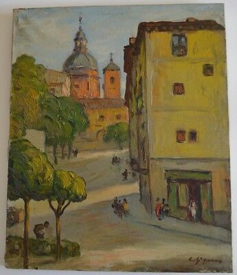 Original Ludovic Gignoux (B 1882 France/Spain) Painting Signed Impressionist O/C