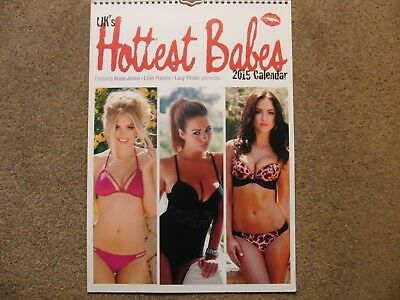UK's Hottest Babes 2015 A3 Calendar Used Lacey Banghard Rhian Sugden