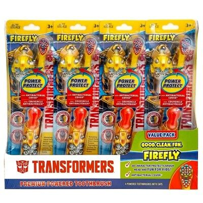 Kids Transformers Boys Premium Battery Powered Toothbrush, 4 pack