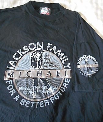 Michael Jackson's Family Heal The World Save The Planet - Rare T-Shirt Xl