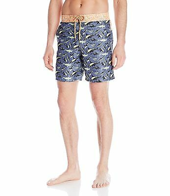 1fd7d063a8 NWT MENS MAAJI Long Swim Trunks Board Shorts Champion Lines Blue ...