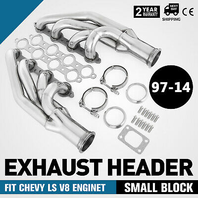 Ss Exhaust Header Turbo Manifold For 97 14 Chevy Small Block Ls1ls2