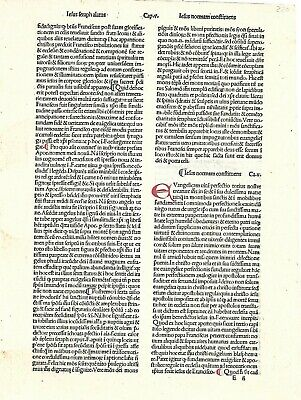 """15thc incunabula Leaf/page """"MEDITATION ON THE PASSION OF CHRIST""""  Venice, 1485"""