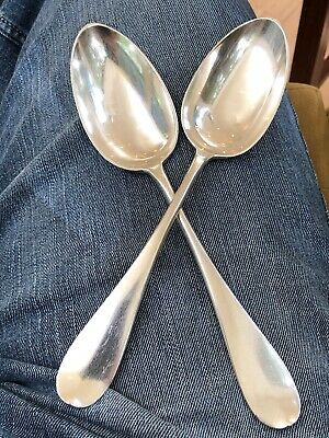 RUSSIAN SILVER DESSERT Spoons, Moscow Prudnikov  - $165 00