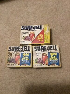 Vintage Sure Jell Packs Package Jello Advertising